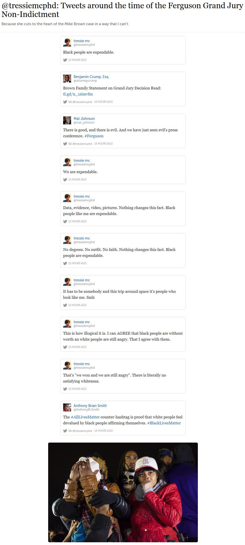 Storify of @tressiemcphd